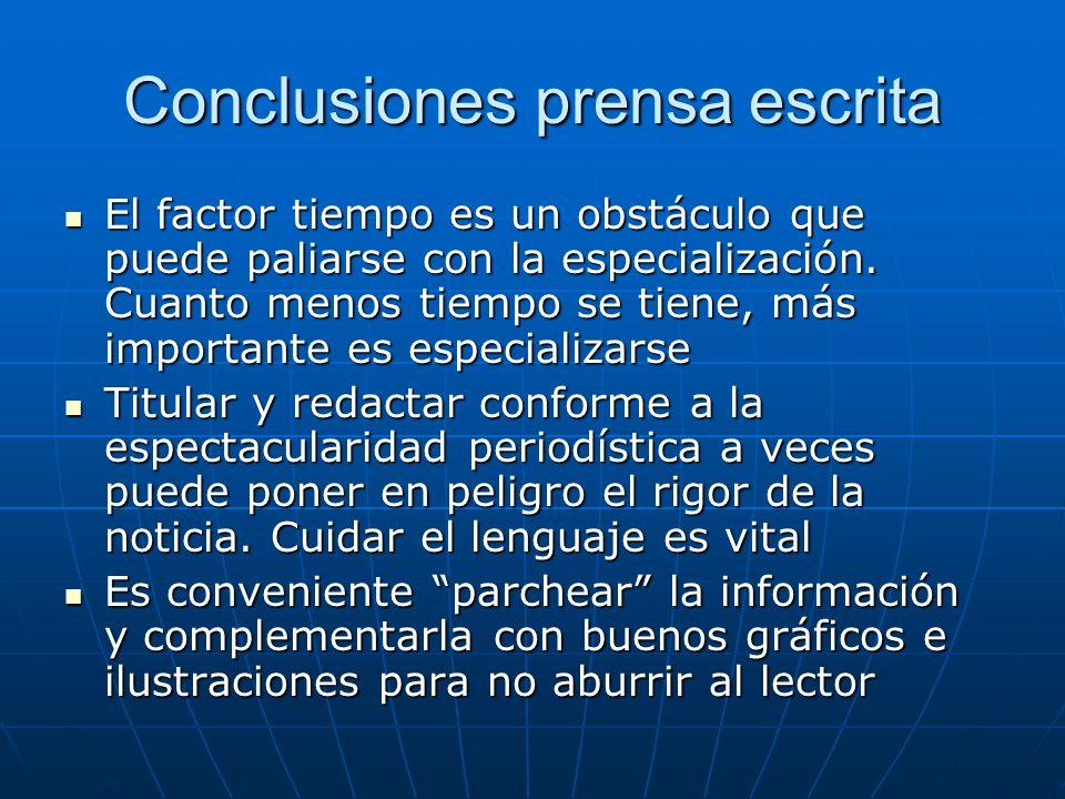 Conclusiones prensa escrita