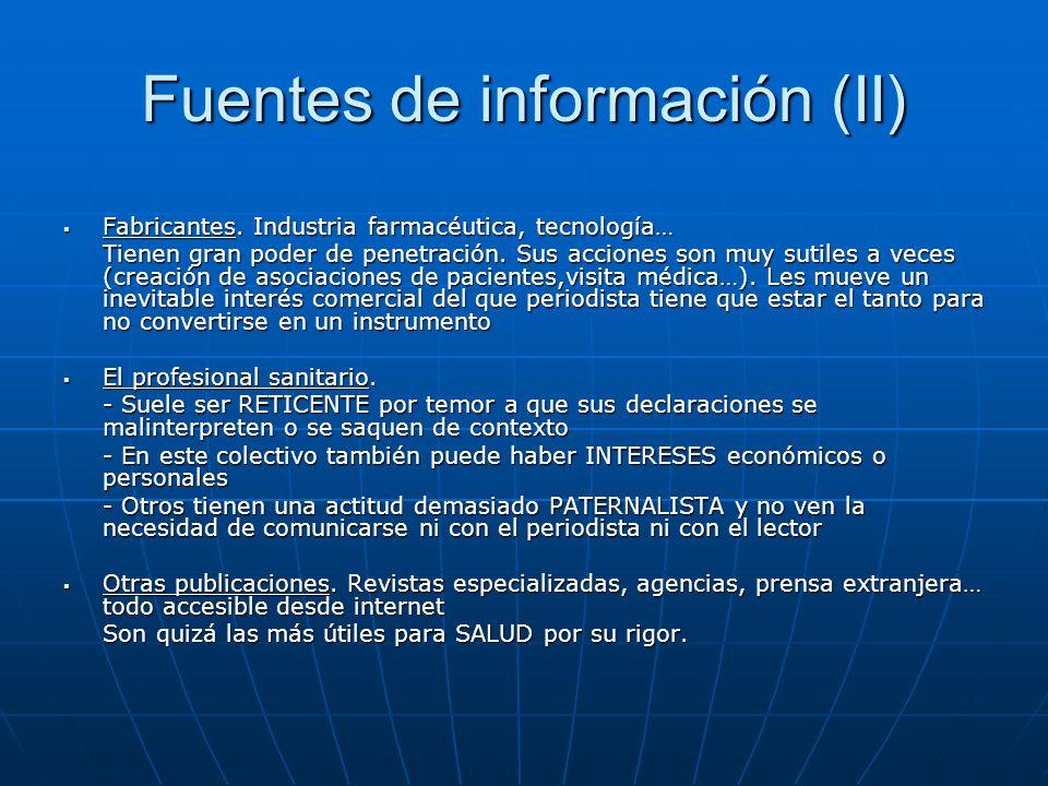 Fuentes de información (II)