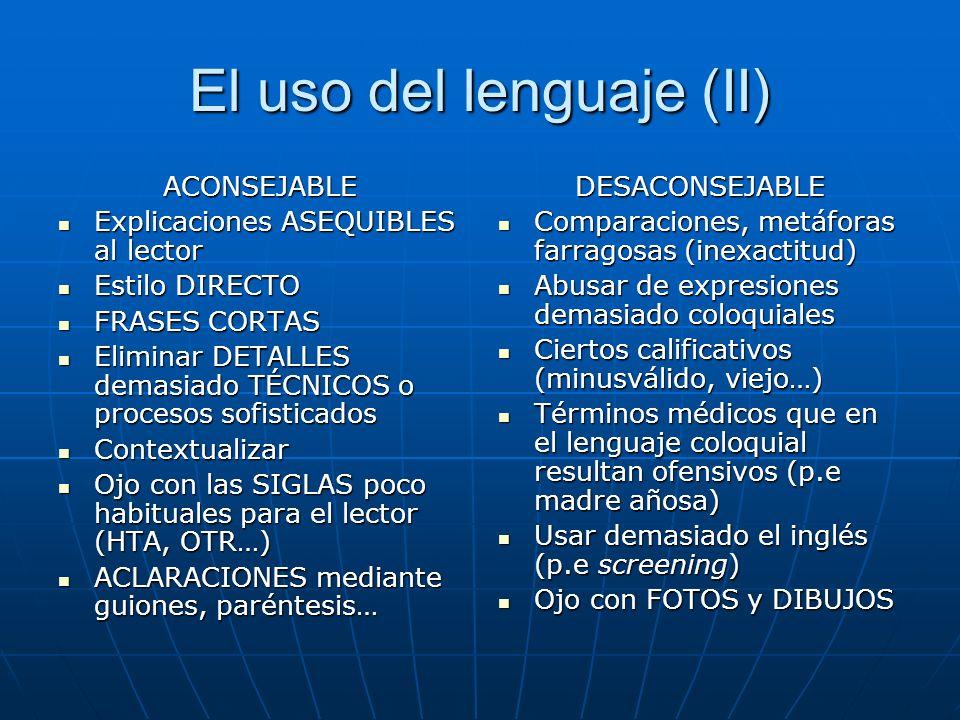 El uso del lenguaje (II)