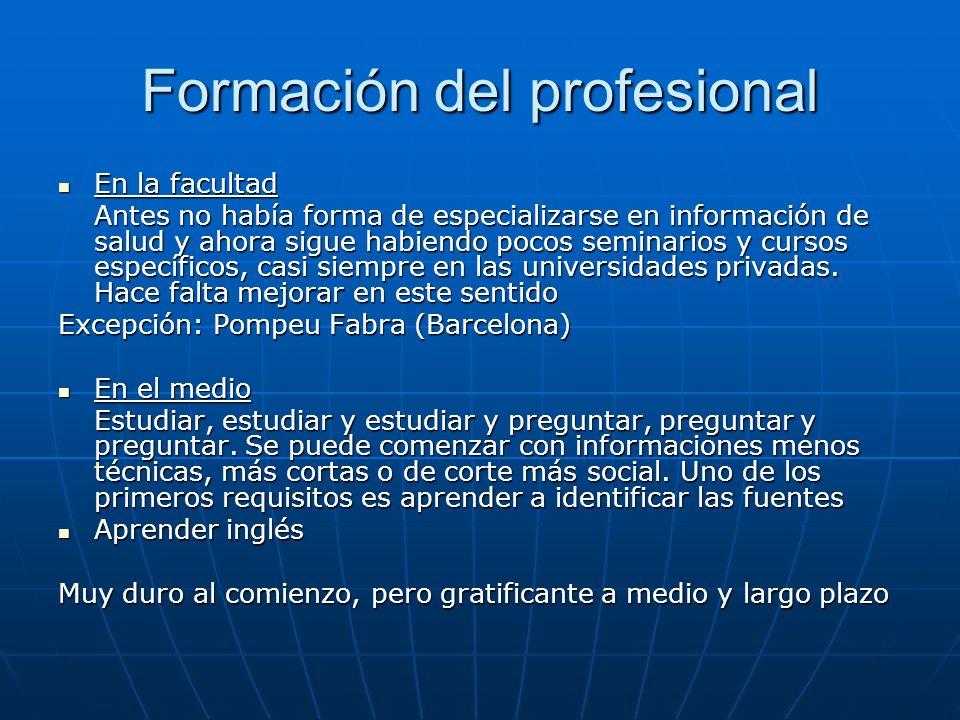 Formación del profesional