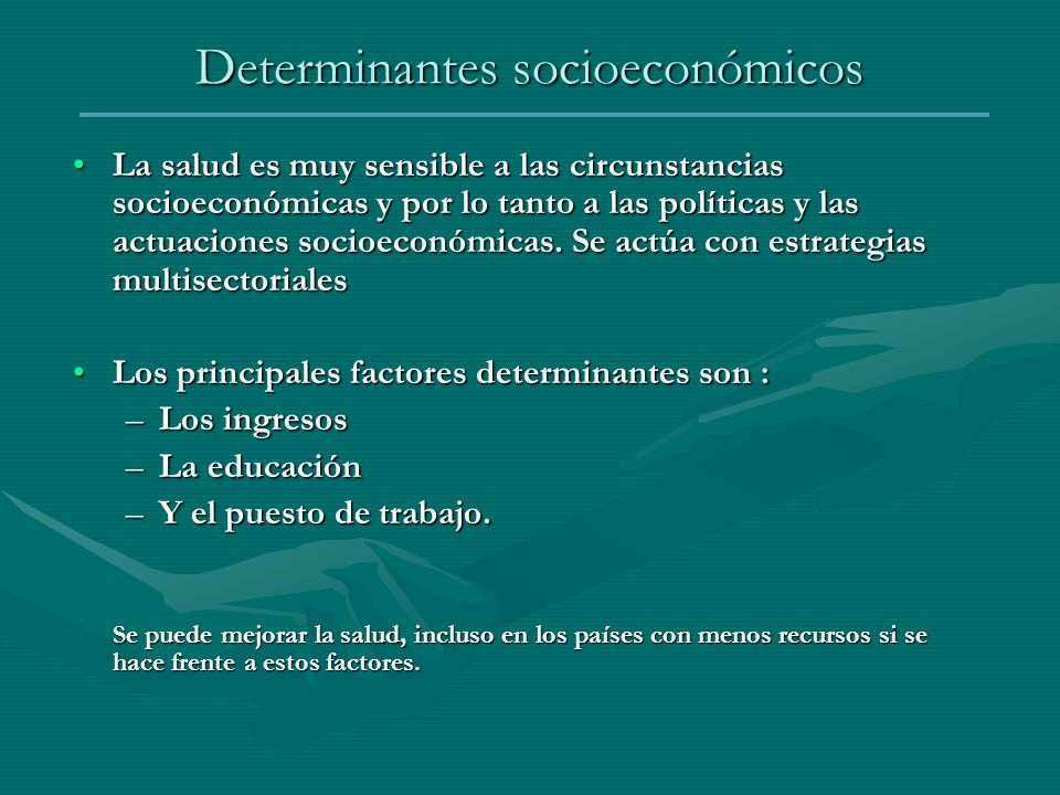 Determinantes socioeconómicos