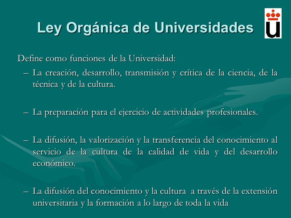 Ley Orgánica de Universidades