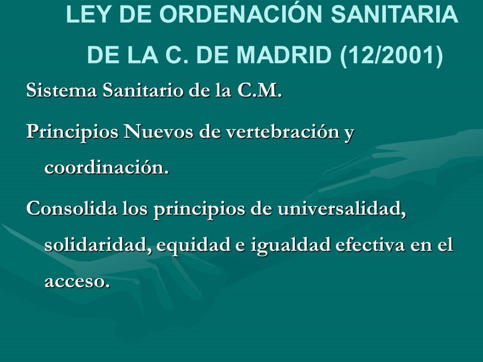 LEY DE ORDENACIÓN SANITARIA