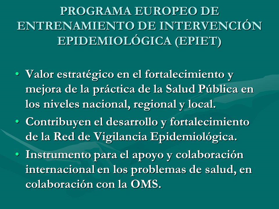 PROGRAMA EUROPEO DE ENTRENAMIENTO DE INTERVENCIÓN EPIDEMIOLÓGICA (EPIET)