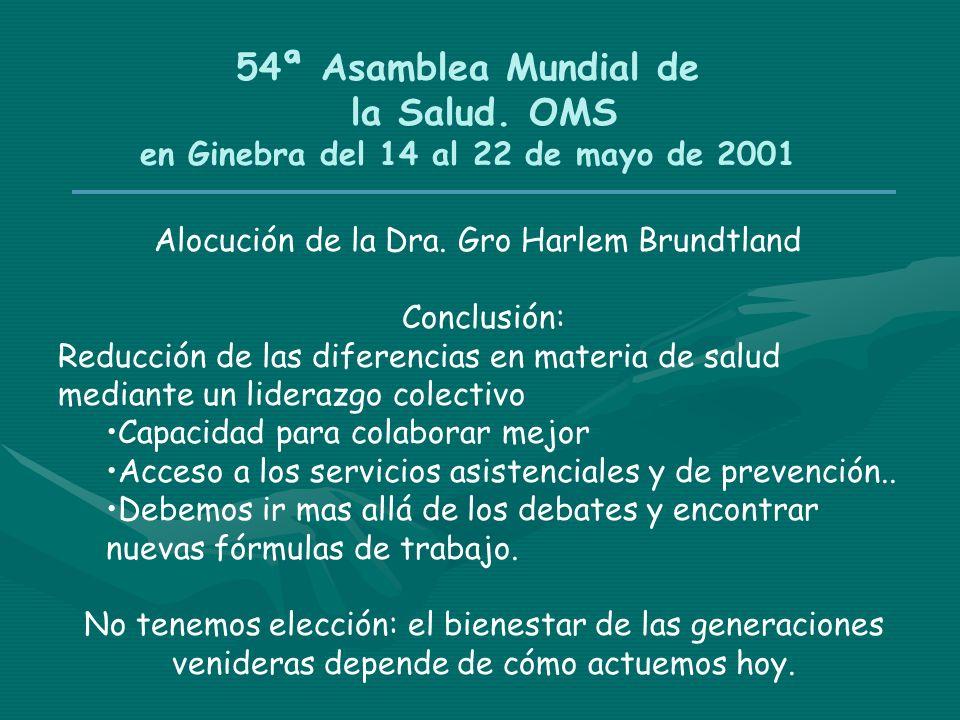 54ª Asamblea Mundial de la Salud