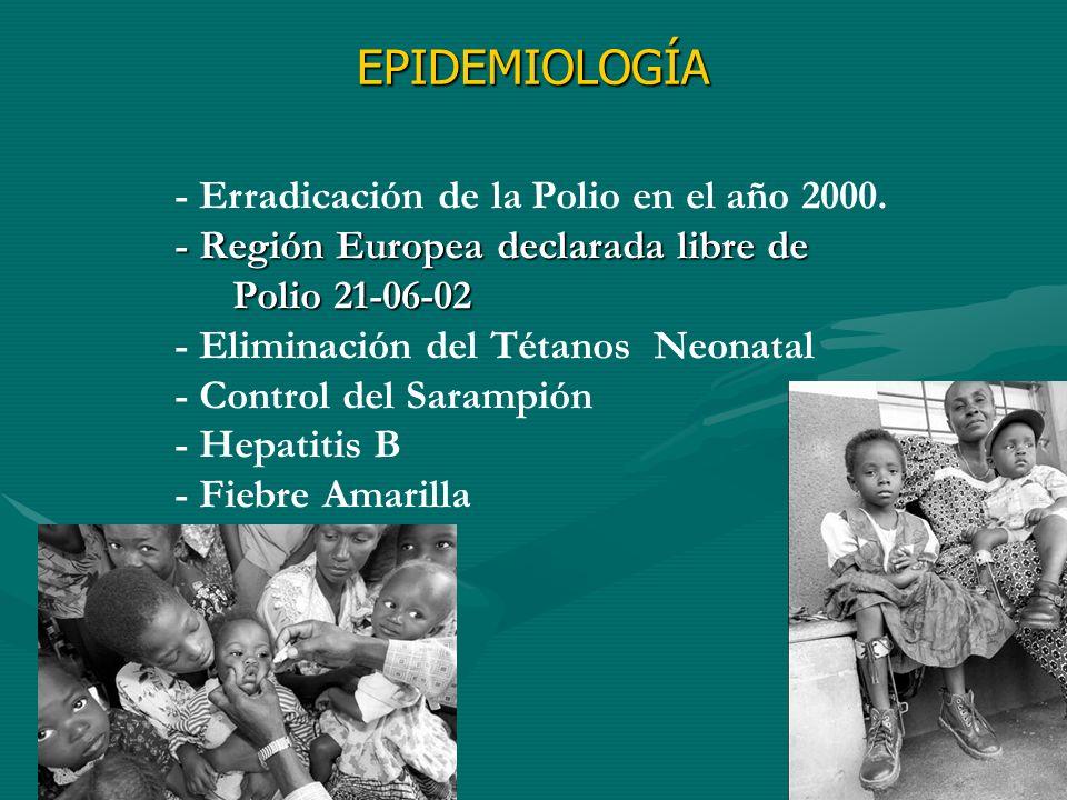 EPIDEMIOLOGÍA - Erradicación de la Polio en el año 2000.