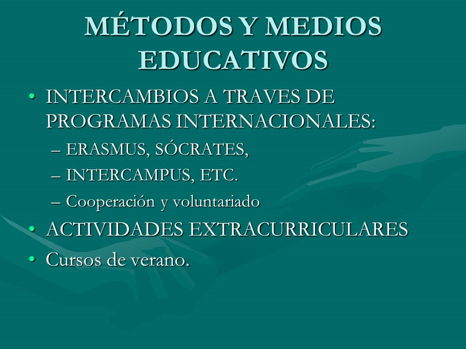 MÉTODOS Y MEDIOS EDUCATIVOS