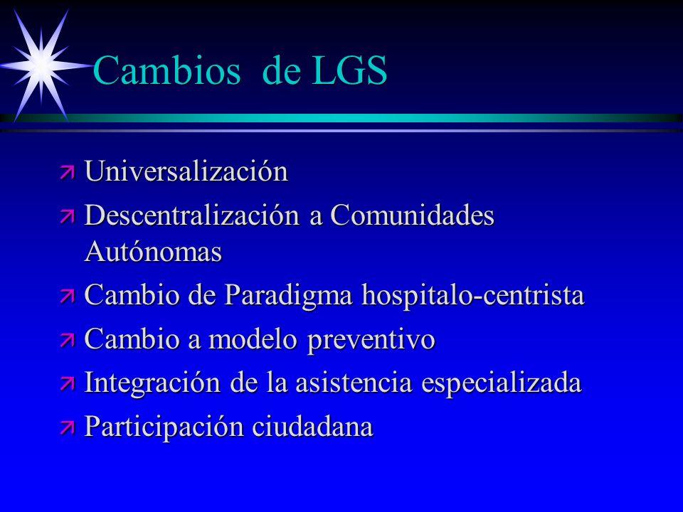 Cambios de LGS Universalización