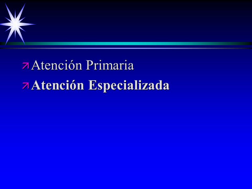 Atención Primaria Atención Especializada
