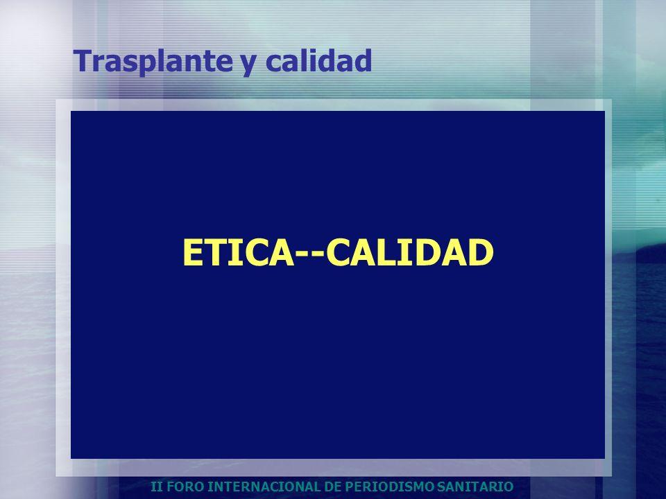 Trasplante y calidad ETICA--CALIDAD