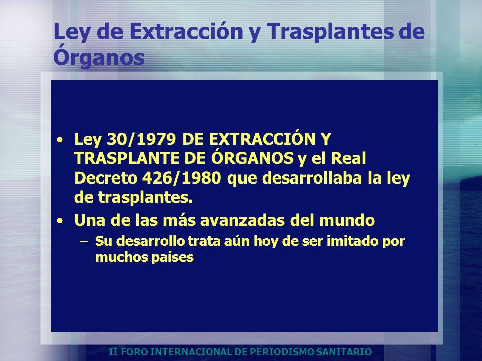 Ley de Extracción y Trasplantes de Órganos
