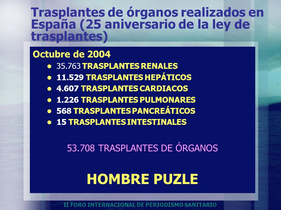 53.708 TRASPLANTES DE ÓRGANOS