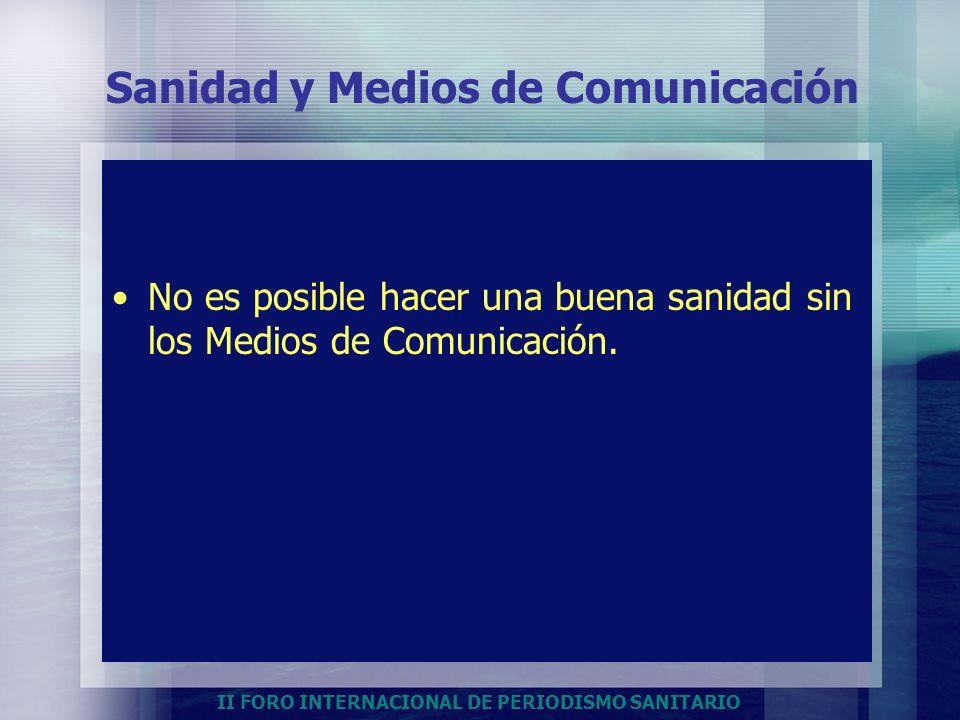 Sanidad y Medios de Comunicación