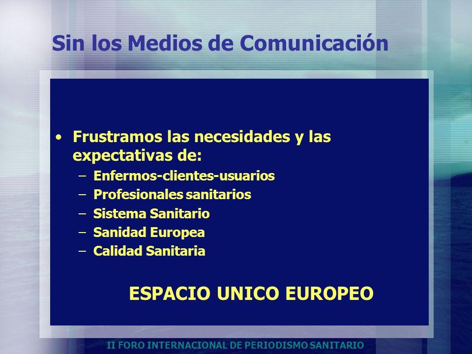 Sin los Medios de Comunicación