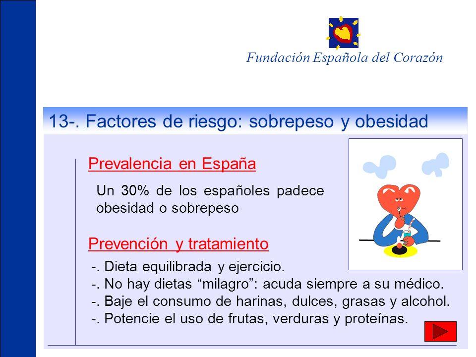 13-. Factores de riesgo: sobrepeso y obesidad