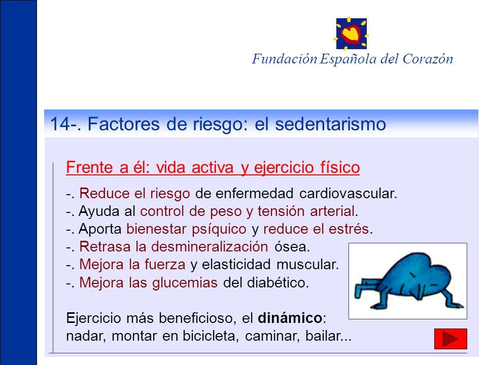 14-. Factores de riesgo: el sedentarismo