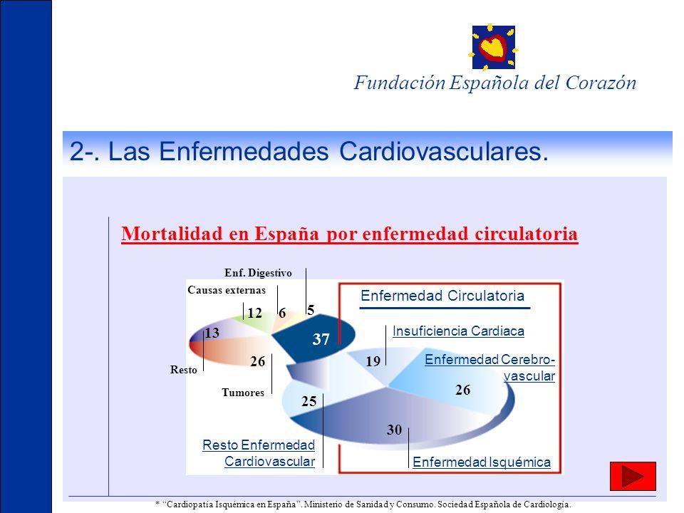 2-. Las Enfermedades Cardiovasculares.