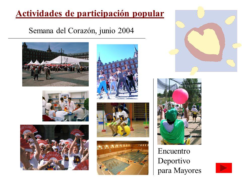 Actividades de participación popular