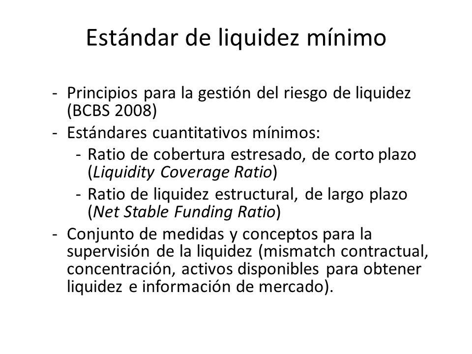 Estándar de liquidez mínimo