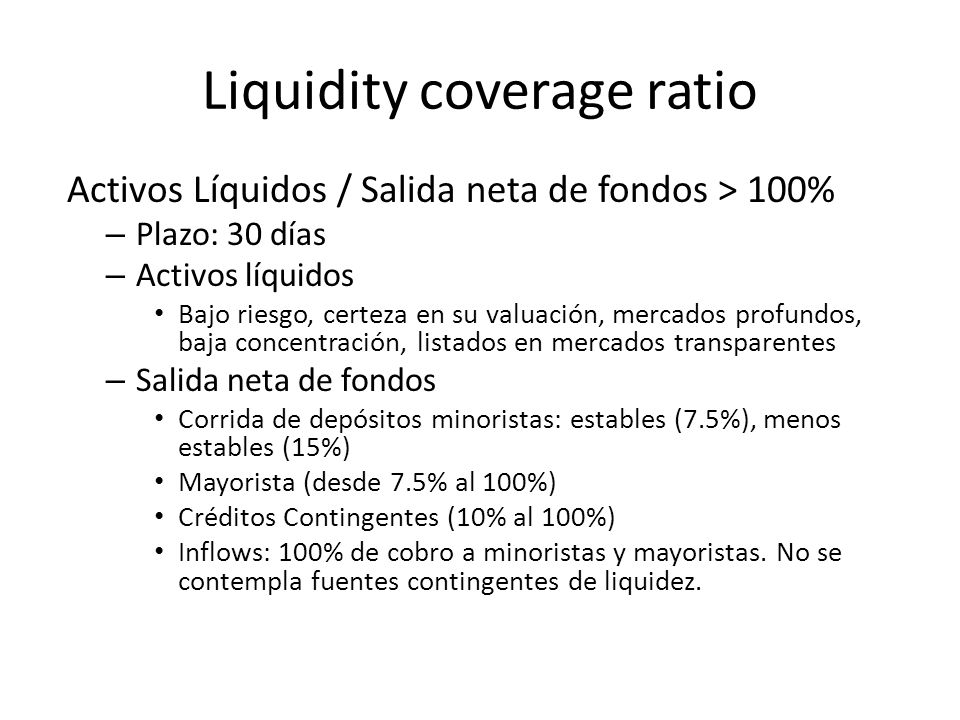 Liquidity coverage ratio