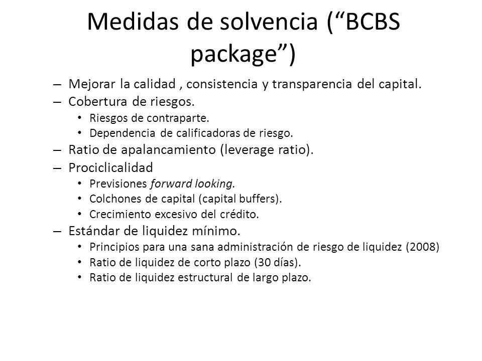 Medidas de solvencia ( BCBS package )