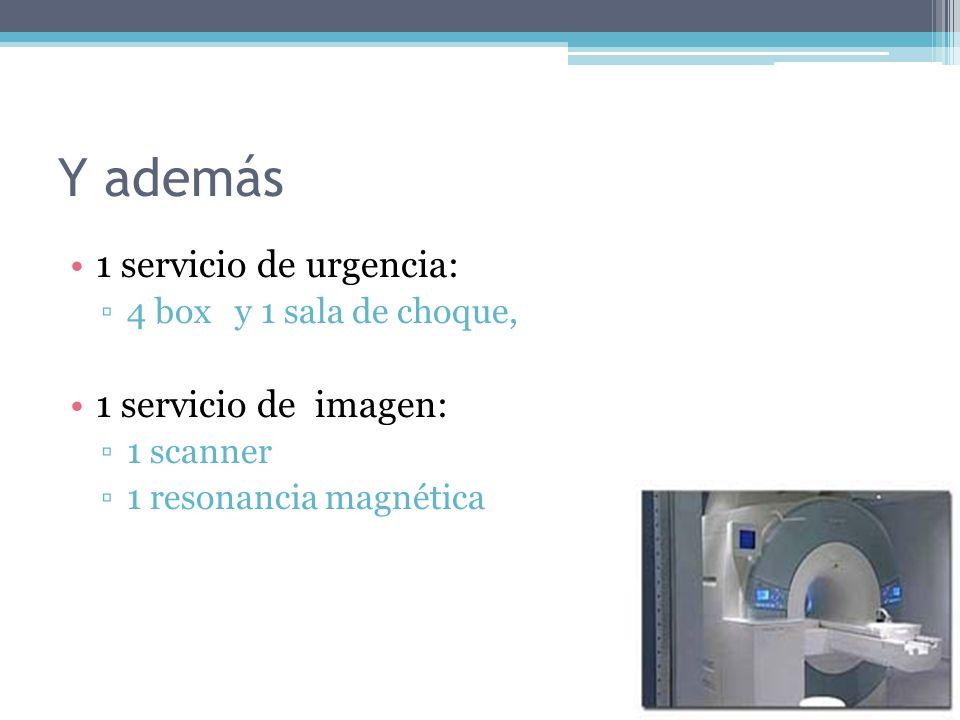 Y además 1 servicio de urgencia: 1 servicio de imagen: