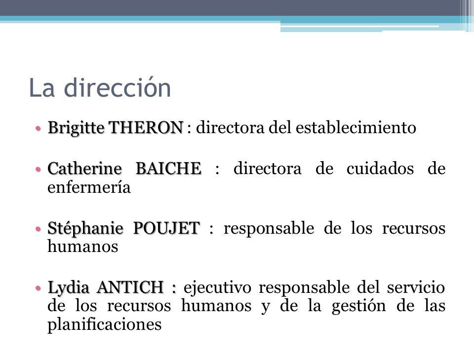 La dirección Brigitte THERON : directora del establecimiento