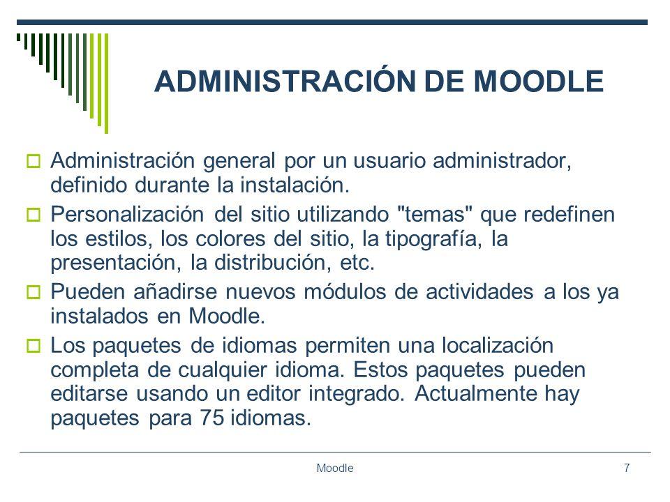 ADMINISTRACIÓN DE MOODLE