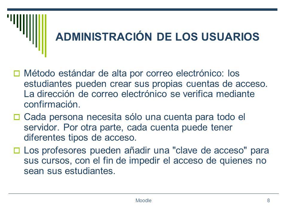 ADMINISTRACIÓN DE LOS USUARIOS