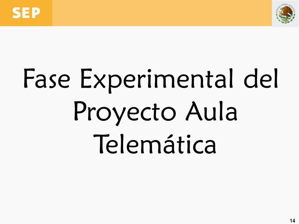 Fase Experimental del Proyecto Aula Telemática