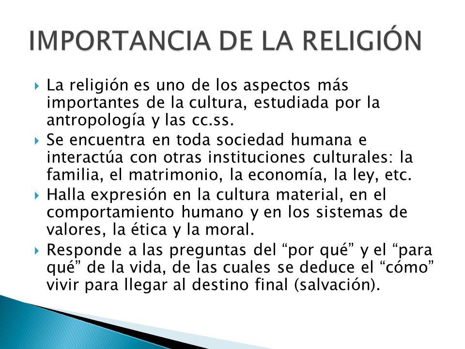 IMPORTANCIA DE LA RELIGIÓN