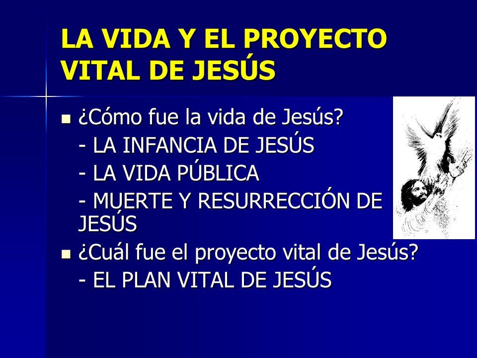 LA VIDA Y EL PROYECTO VITAL DE JESÚS
