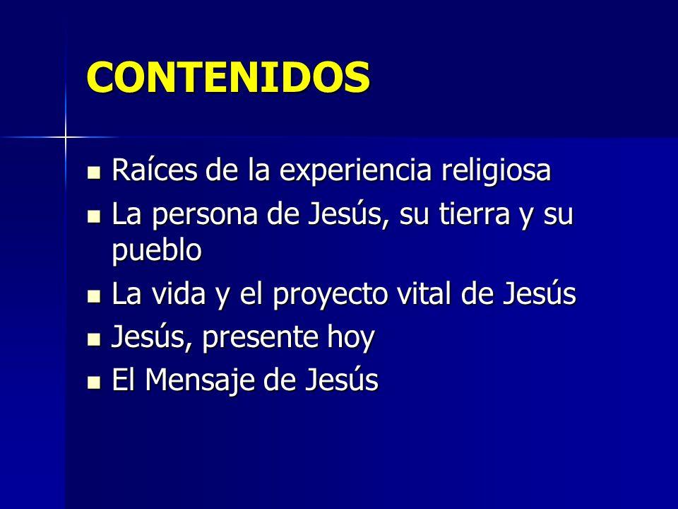 CONTENIDOS Raíces de la experiencia religiosa