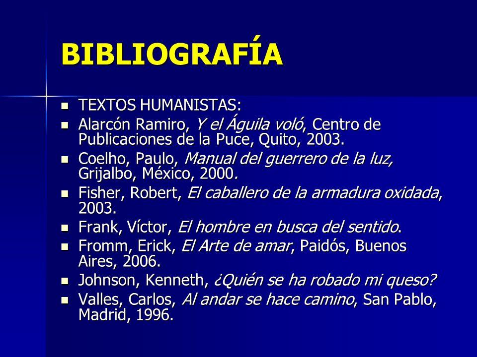 BIBLIOGRAFÍA TEXTOS HUMANISTAS: