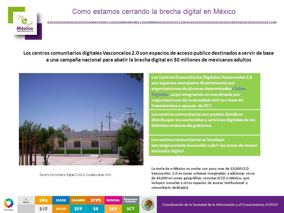 Como estamos cerrando la brecha digital en México
