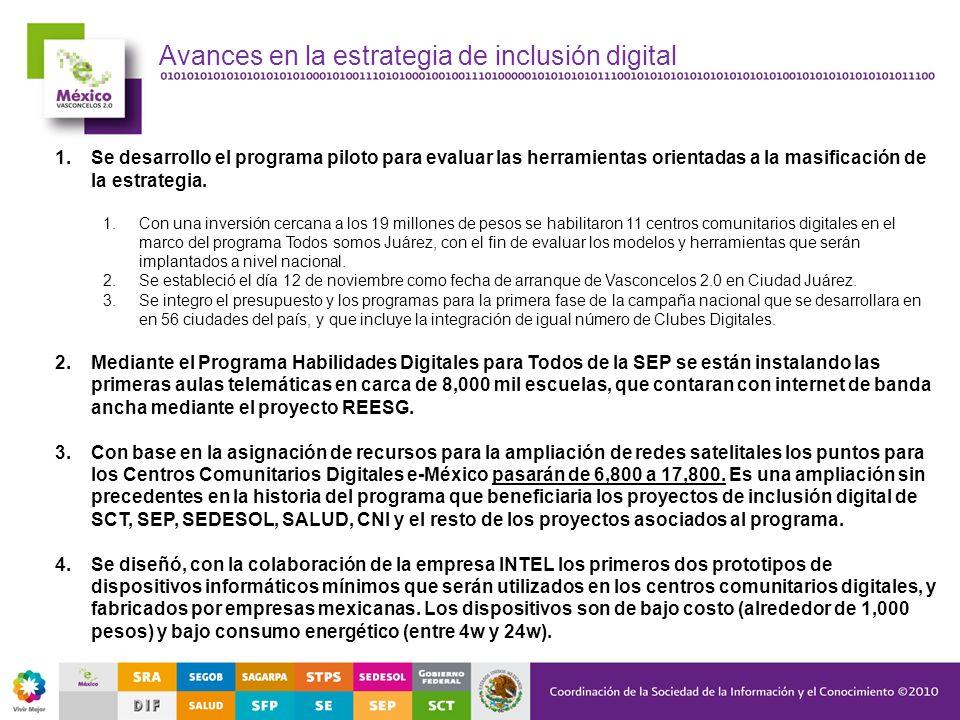 Avances en la estrategia de inclusión digital