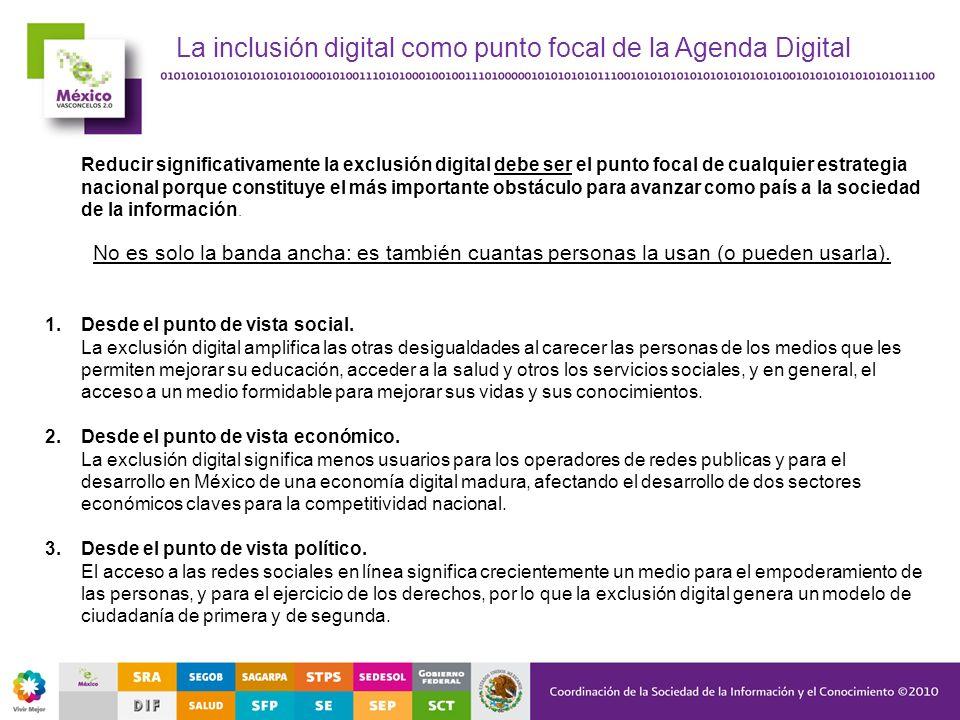 La inclusión digital como punto focal de la Agenda Digital