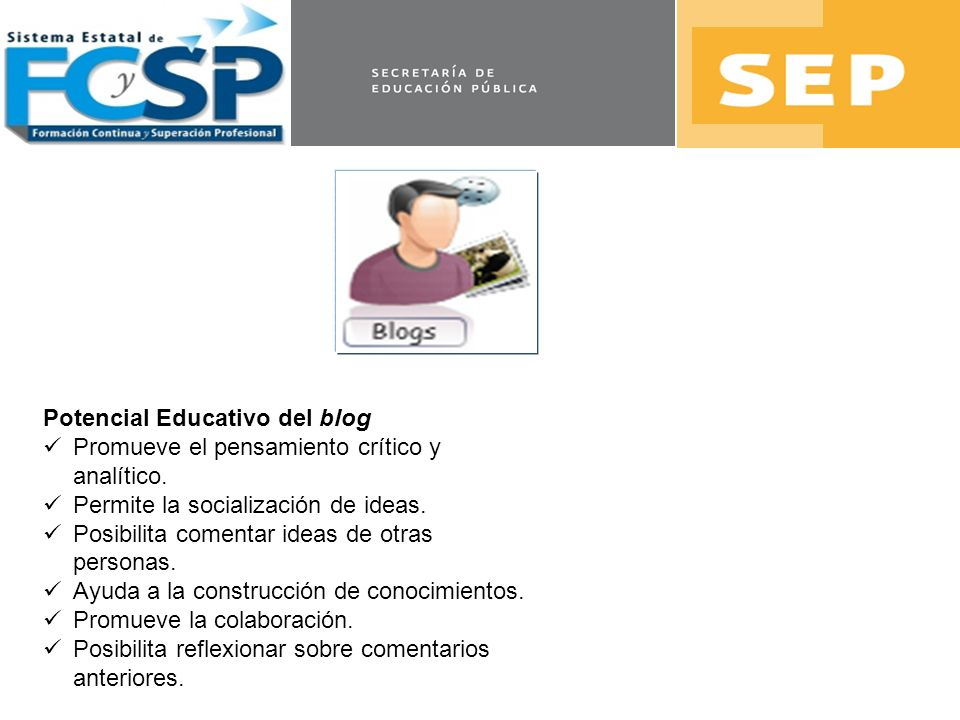 Potencial Educativo del blog