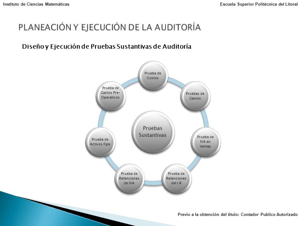 PLANEACIÓN Y EJECUCIÓN DE LA AUDITORÍA