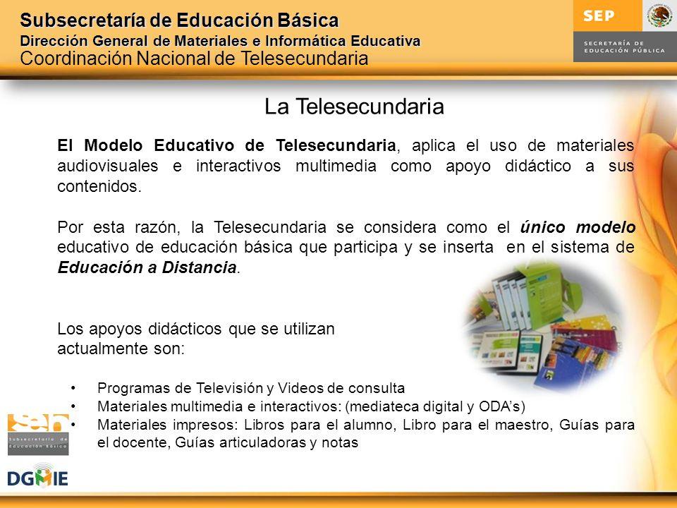 La Telesecundaria Coordinación Nacional de Telesecundaria