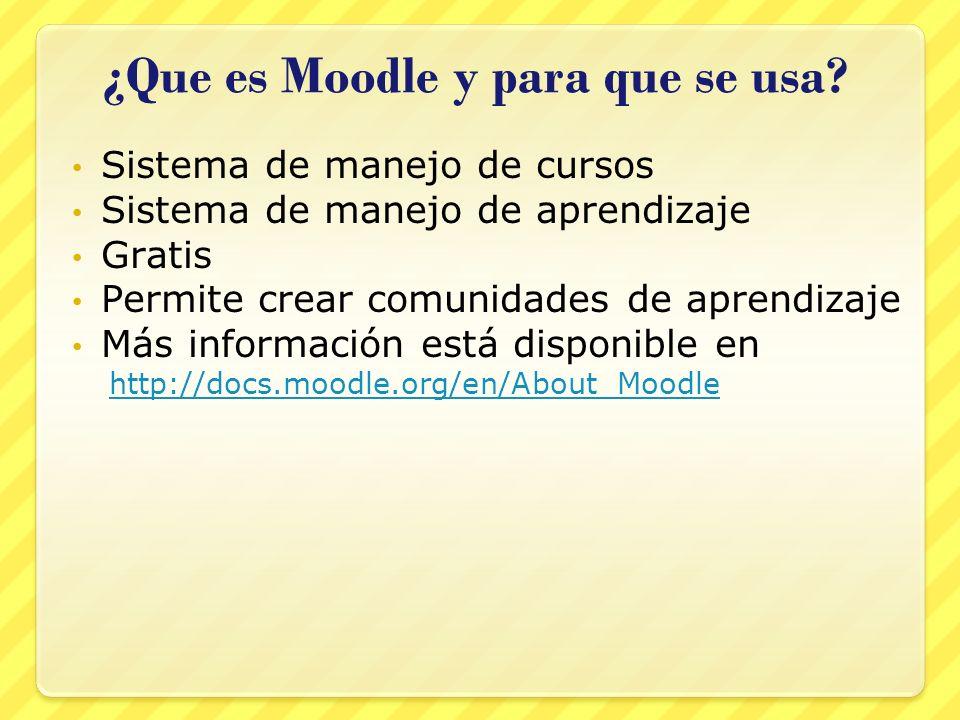 ¿Que es Moodle y para que se usa