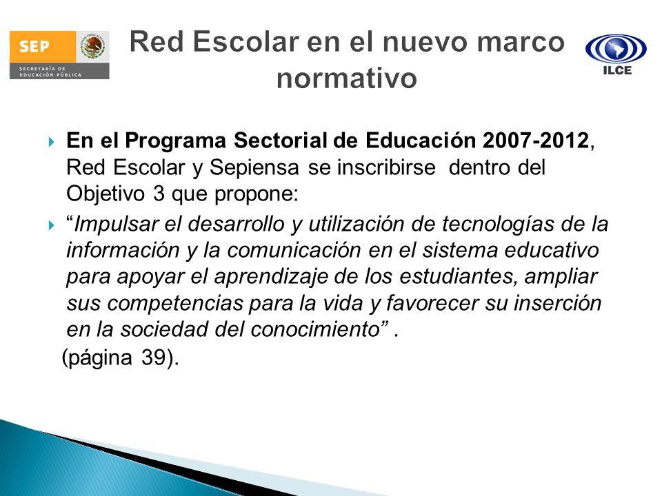 Red Escolar en el nuevo marco normativo