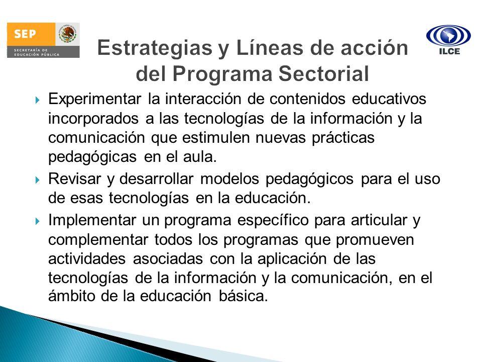 Estrategias y Líneas de acción del Programa Sectorial