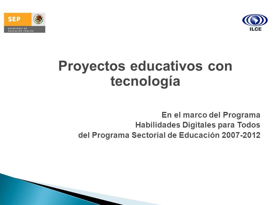 Proyectos educativos con tecnología