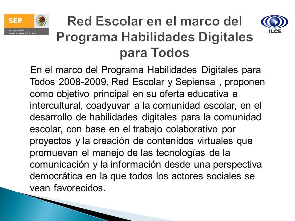 Red Escolar en el marco del Programa Habilidades Digitales para Todos