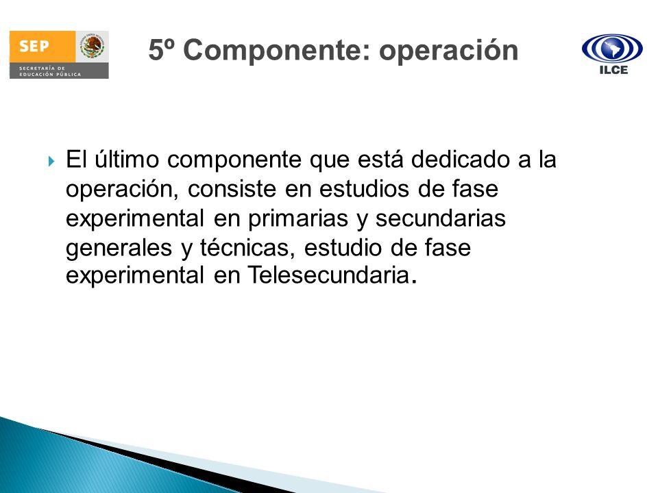 5º Componente: operación