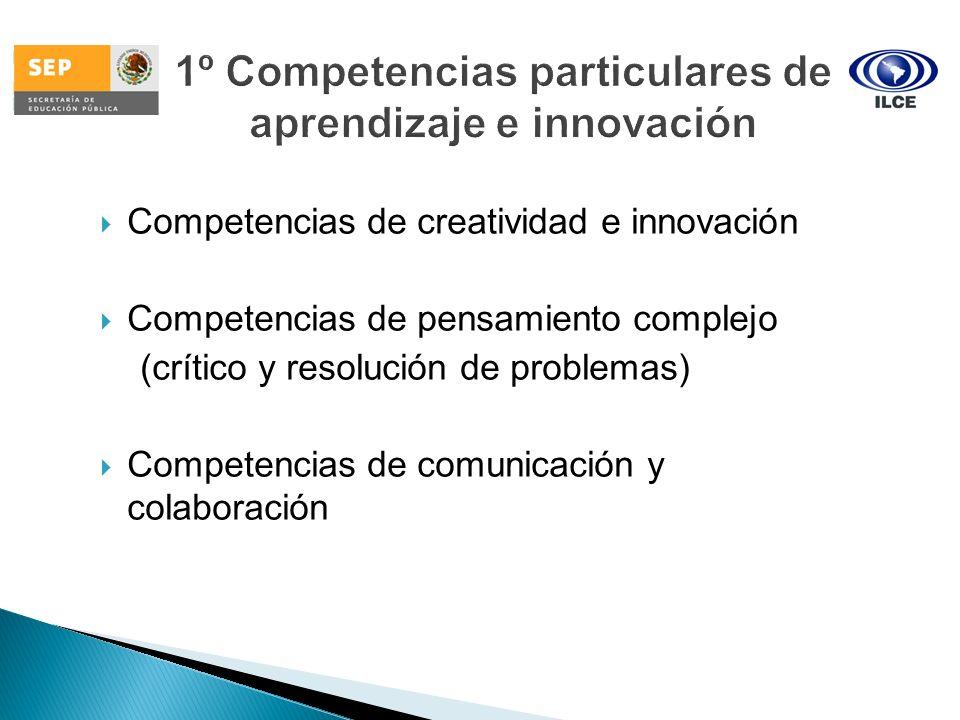 1º Competencias particulares de aprendizaje e innovación