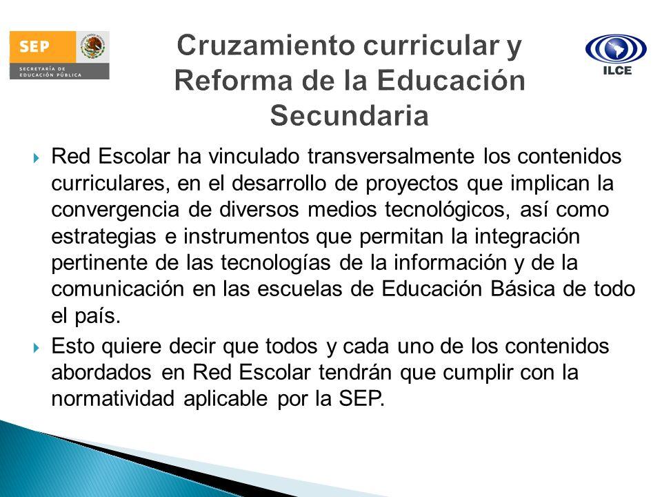 Cruzamiento curricular y Reforma de la Educación Secundaria