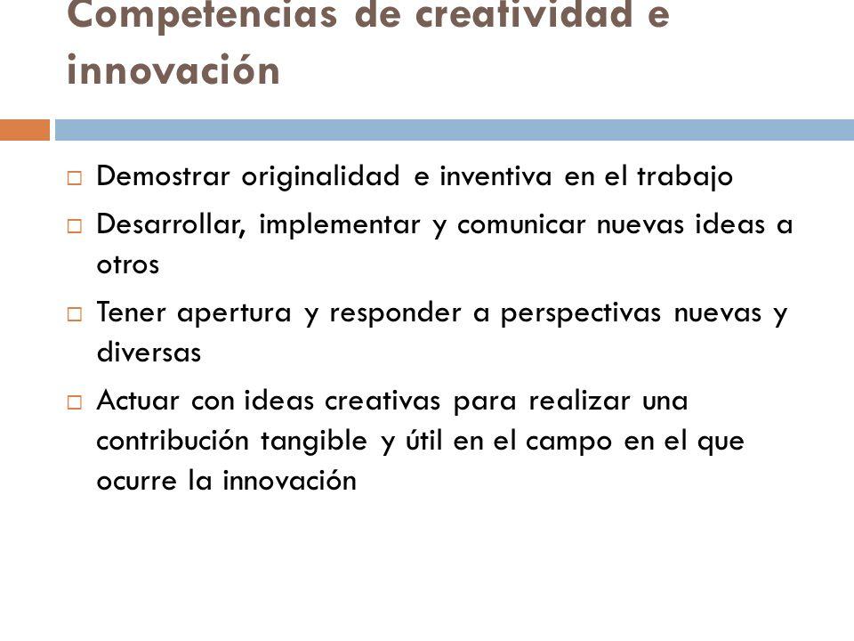Competencias de creatividad e innovación