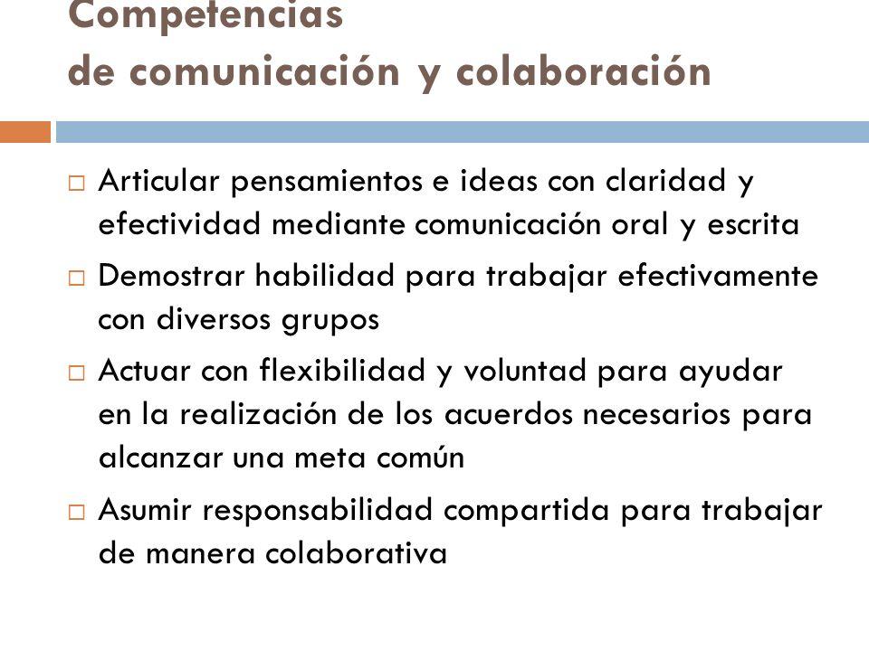 Competencias de comunicación y colaboración